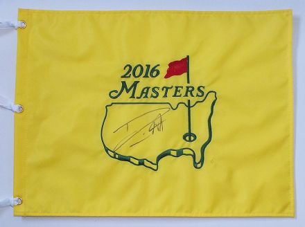 Danny Willett signed Masters 2016 Augusta National pin flag.